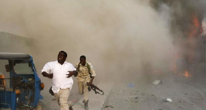 File photo: The suicide bomber detonated an explosive belt near a police academy