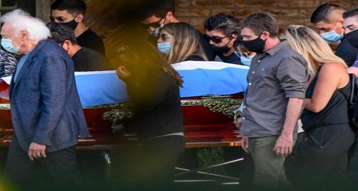 Maradona buried in his native country on Thursday
