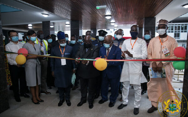 """President Akufo-Addo commissioning the newly constructed """"Job 600"""" Annex building"""