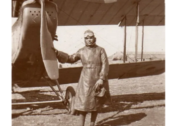 William Robinson Clarke with his RE 8 aircraft. Photo: C&T Auctions/BNPS