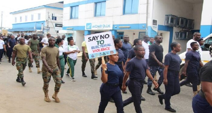 The security agencies are walking for peace today