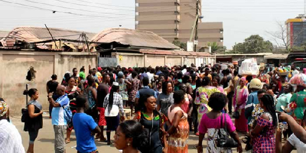 Some affected traders of the Odawna Shopping Mall fire