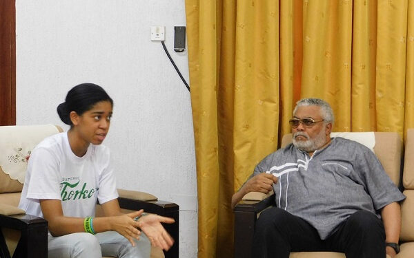 Zuriel and the late former President of Ghana, Jerry John Rawlings