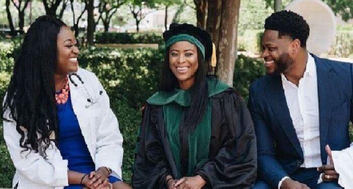 Gloria, Victor and Blessing Oyeniyi are all certified doctors