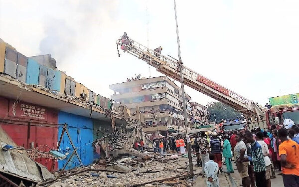 Ghana National Fire Service brought the fire under control