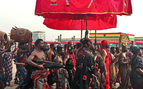Some Chiefs at the State funeral of JJ Rawlings