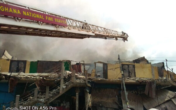 The fire started on Sunday just before 11:00 am