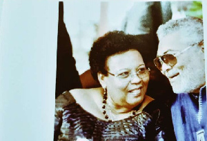 Step sister of former President Rawlings, Judy in an interaction with her elder brother