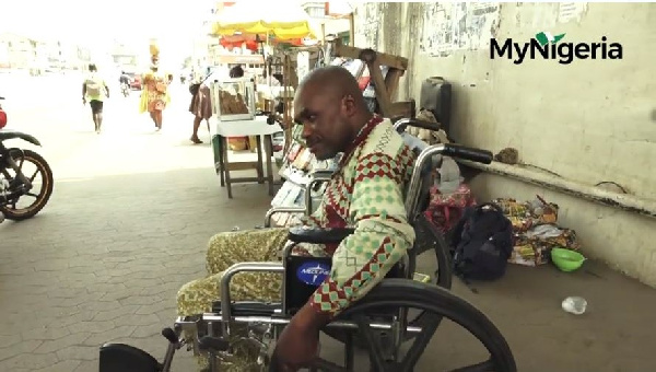 Peter Tamuno has been in a wheel chair for close to two decades