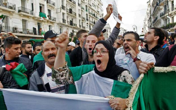 File Photo of some Algerians in an earlier protest