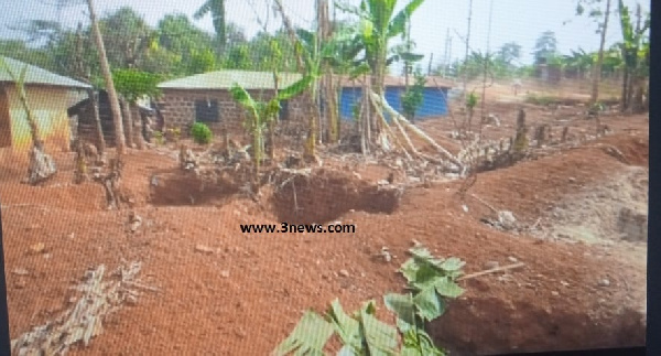 These illegal miners have dug almost every part of the community including homes