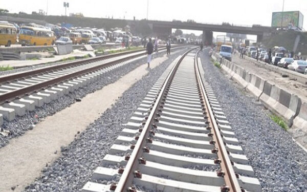 A portion of the Accra-Nsawam rail line