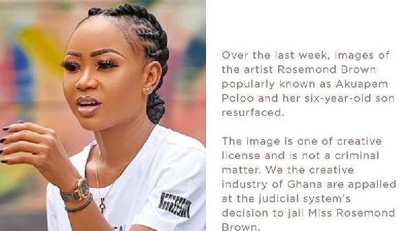 Akuapem Poloo is serving a 90-day jail term