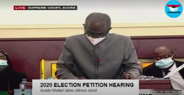 Johnson Asiedu Nketia was a witness to the Petitioner