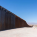 Construction along the border wall at Signal Mountain outside of Mexicali, California. Photograph: Kevin Cooley/Redux/Eyevine