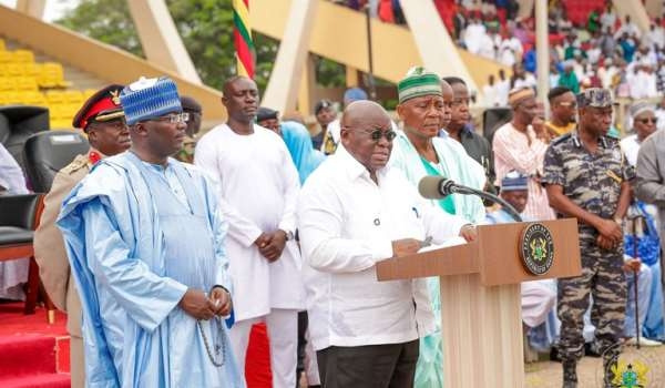 President Akufo-Addo speaking at this year's Eid