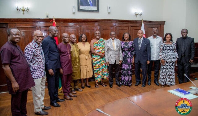 The six-member delegation included the former Chief Justice and veteran lawyer Sam Okudzeto