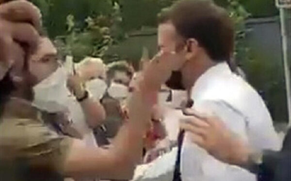 President Emmanuel Macron was attacked in southern France