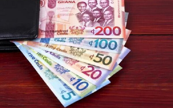 The cedi traded against the dollar at a mid-rate of 5.7502