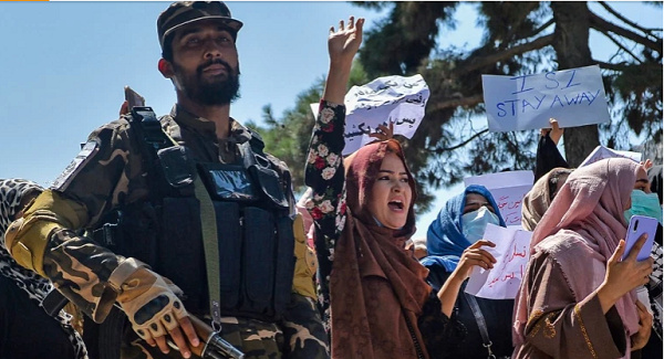 Amid growing protests, China has welcomed the end of 'three weeks of anarchy' in Afghanistan