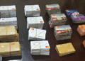 Some of the ATM cards found on the suspect