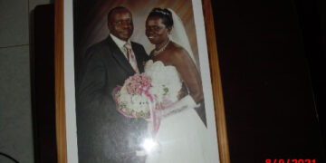 The Onebes on their wedding day. Photo/courtesy